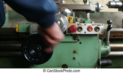 Work at the machine, Handle rotation