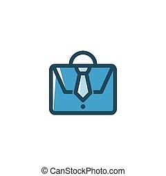 Work Bag Line Art Logo Icon Vector