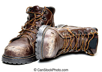 Work Boots - A pair of well worn Work Boots.