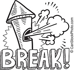 Work break sketch - Doodle style break from work ...
