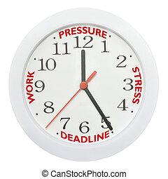 Work deadline stress - Working against the clock concept