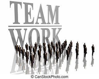 work., drużyna, biznesmeni