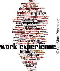 Work experience word cloud