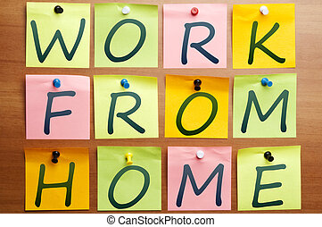Work from home ad made by post it
