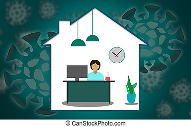 Work from home during an outbreak of the COVID-19 virus
