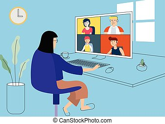 Work from home illustration vector. - Work from home ...