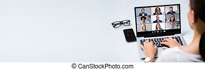 Work From  Home Online Video Conference Webinar