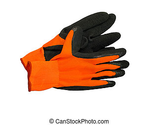 Work gloves - Black work gloves isolated on white background