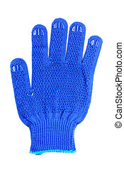 work gloves blue color isolated on white background