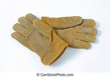 Work Gloves - Gloves with some wear from working on isolated...