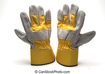 gloves work heavy duty leather carpenter construction