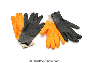 work gloves isolated on a white background...