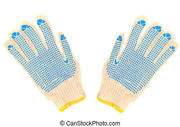 Work gloves isolated on a white background