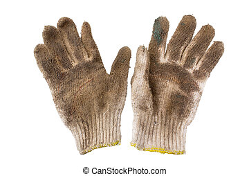 Work Gloves Isolated with clipping path on a white...