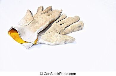 Work gloves - Isolated work gloves.