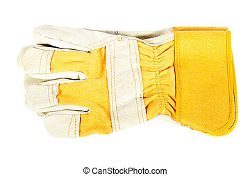 work gloves on a white background