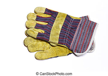 Work gloves - Pair of protective work gloves isolated on...
