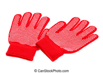 Work gloves - Pair of working gloves on white background