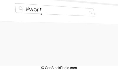 Work hashtag search through social media posts
