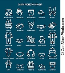 Work health and occupational safety icons