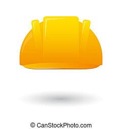 Illustration of an isolated work helmet