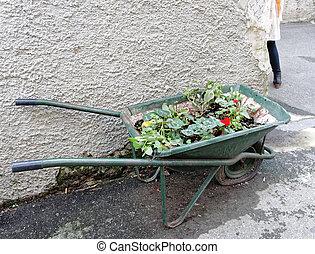 wheelbarrow ready for use