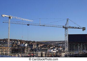 Work in progress - Construction site in Brighton, England