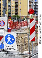 work in progress in the city