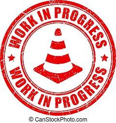 Work in progress vector stamp