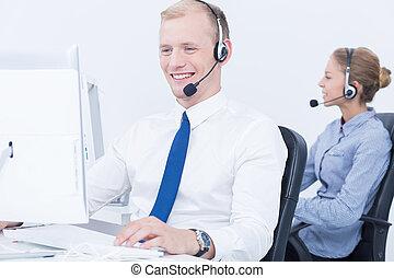 Work in telemarketing