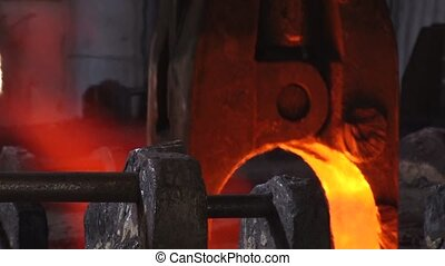 Work in the metallurgical shop