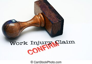 Work injury claim - confirm