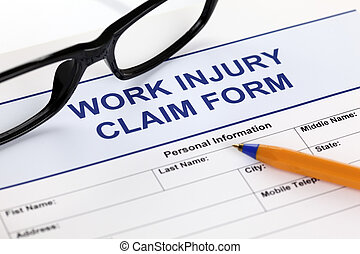 Work Injury Claim Form - Work Injury claim form glasses and ...
