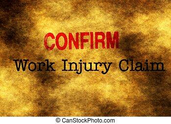 Work injury claim