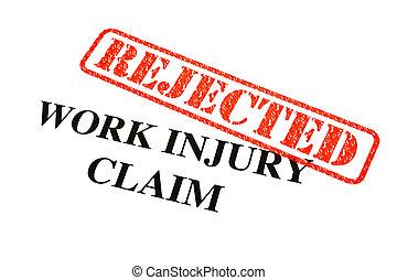 Work Injury Claim REJECTED