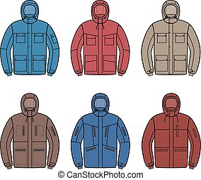 Work jacket - Vector illustration of winter work jacket....