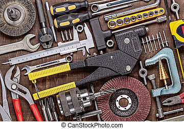 work., journalier, réparation, outils métal, photo, locksmithing., divers