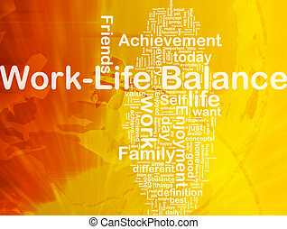 Work ?life balance background concept - Background concept...