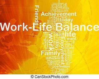 Work ?life balance background concept - Background concept ...