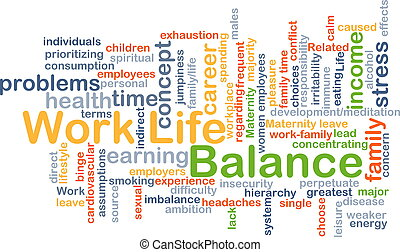Work-life balance background concept