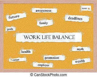 Work Life Balance Corkboard Word Concept