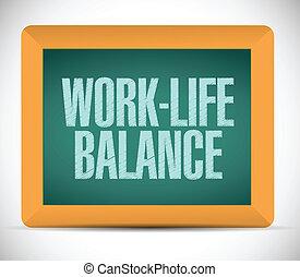 work-life balance on a board. illustration design