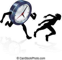 Work Life Balance Race Concept