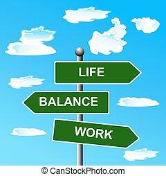 Work, life, balance, street, signs