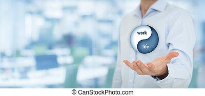 Work life balance - Work life (work-life) balance concept. ...