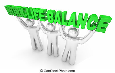 work-life, egyensúly, személy, birtok, szavak, 3, ábra