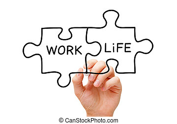 Work Life Puzzle Concept
