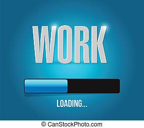 work loading illustration design over a blue background