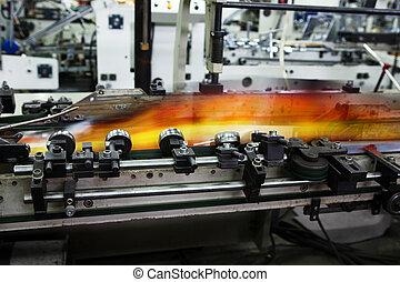 modern printing house - Work of the conveyor in a modern...