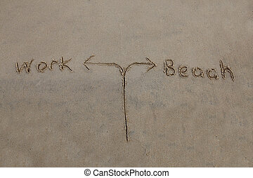 Work or Beach - decision time